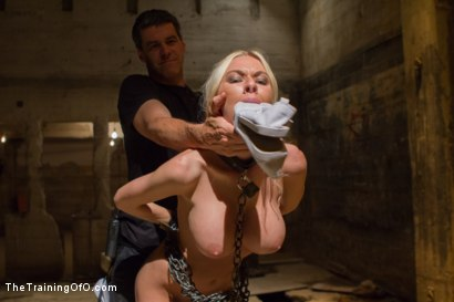Photo number 1 from The Dismissal of a Big Tit, Bleach Blonde Porn Star shot for The Training Of O on Kink.com. Featuring Riley Evans and Johnny Ruiz in hardcore BDSM & Fetish porn.