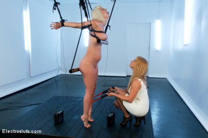 Photo number 14 from Cherry Torn in Painful Electric Copper Pipe Predicament! shot for Electro Sluts on Kink.com. Featuring Lea Lexis and Cherry Torn in hardcore BDSM & Fetish porn.