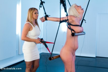 Photo number 6 from Cherry Torn in Painful Electric Copper Pipe Predicament! shot for Electro Sluts on Kink.com. Featuring Lea Lexis and Cherry Torn in hardcore BDSM & Fetish porn.