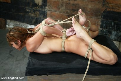 Photo number 7 from Sativa Rose shot for Hogtied on Kink.com. Featuring Sativa Rose in hardcore BDSM & Fetish porn.