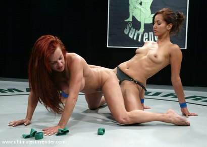 Photo number 15 from The Green Machine (Lifetime 4-0) vs. <br>The Goddess (Lifetime 6-4) shot for Ultimate Surrender on Kink.com. Featuring Shannon Kelly and Isis Love in hardcore BDSM & Fetish porn.