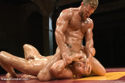 "Photo number 6 from Landon ""The Law"" Conrad vs Alex ""The Axe"" Adams - The Oil Match shot for Naked Kombat on Kink.com. Featuring Alex Adams and Landon Conrad in hardcore BDSM & Fetish porn."