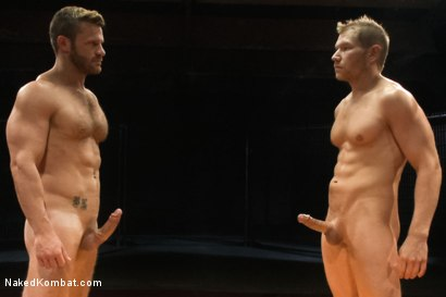 "Photo number 15 from Landon ""The Law"" Conrad vs Alex ""The Axe"" Adams - The Oil Match shot for Naked Kombat on Kink.com. Featuring Alex Adams and Landon Conrad in hardcore BDSM & Fetish porn."
