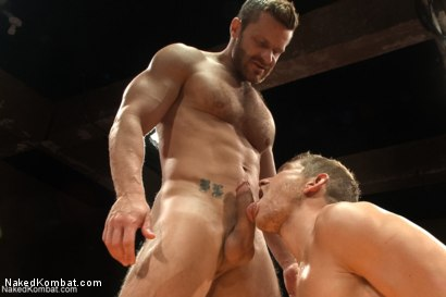 "Photo number 12 from Landon ""The Law"" Conrad vs Alex ""The Axe"" Adams - The Oil Match shot for Naked Kombat on Kink.com. Featuring Alex Adams and Landon Conrad in hardcore BDSM & Fetish porn."