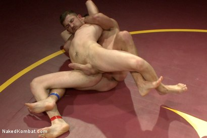 """Photo number 9 from Cameron """"The Kin-Killer-Cade"""" vs Dayton """"The Doc"""" O'Connor  shot for nakedkombat on Kink.com. Featuring Dayton O'Connor and Cameron Kincade in hardcore BDSM & Fetish porn."""