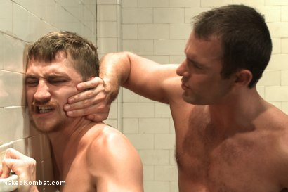 """Photo number 12 from Cameron """"The Kin-Killer-Cade"""" vs Dayton """"The Doc"""" O'Connor  shot for nakedkombat on Kink.com. Featuring Dayton O'Connor and Cameron Kincade in hardcore BDSM & Fetish porn."""