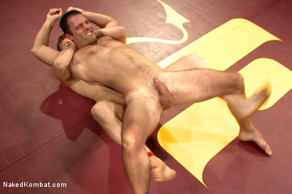 """Photo number 5 from Cameron """"The Kin-Killer-Cade"""" vs Dayton """"The Doc"""" O'Connor  shot for nakedkombat on Kink.com. Featuring Dayton O'Connor and Cameron Kincade in hardcore BDSM & Fetish porn."""