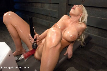 Photo number 13 from Riled up Blonde Hottie Machine Plowed Till her Fake Tits Jiggle shot for Fucking Machines on Kink.com. Featuring Riley Evans in hardcore BDSM & Fetish porn.