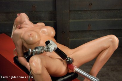 Photo number 14 from Riled up Blonde Hottie Machine Plowed Till her Fake Tits Jiggle shot for Fucking Machines on Kink.com. Featuring Riley Evans in hardcore BDSM & Fetish porn.