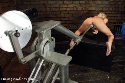 Photo number 15 from Riled up Blonde Hottie Machine Plowed Till her Fake Tits Jiggle shot for Fucking Machines on Kink.com. Featuring Riley Evans in hardcore BDSM & Fetish porn.