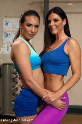 Photo number 1 from MILF Cougar stalks a Hottie Yoga Girl & they FUCK MACHINES in the gym! shot for Fucking Machines on Kink.com. Featuring Casey Calvert  and India Summer in hardcore BDSM & Fetish porn.