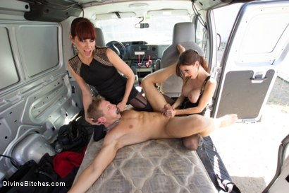 Photo number 3 from Construction worker ass-fucked and humiliated in the back of a van. shot for Divine Bitches on Kink.com. Featuring Maitresse Madeline Marlowe , Gia DiMarco and Alex Adams in hardcore BDSM & Fetish porn.