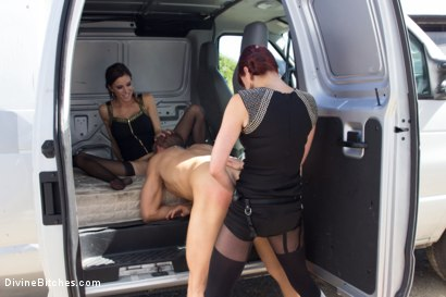 Photo number 7 from Construction worker ass-fucked and humiliated in the back of a van. shot for Divine Bitches on Kink.com. Featuring Maitresse Madeline Marlowe , Gia DiMarco and Alex Adams in hardcore BDSM & Fetish porn.