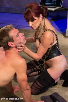 Photo number 14 from Click, Pay, Stroke! shot for Divine Bitches on Kink.com. Featuring Maitresse Madeline Marlowe  and John Jammen in hardcore BDSM & Fetish porn.