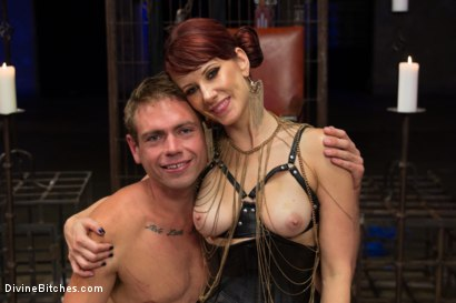 Photo number 7 from Click, Pay, Stroke! shot for Divine Bitches on Kink.com. Featuring Maitresse Madeline Marlowe  and John Jammen in hardcore BDSM & Fetish porn.