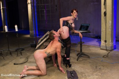 Photo number 8 from Click, Pay, Stroke! shot for Divine Bitches on Kink.com. Featuring Maitresse Madeline Marlowe  and John Jammen in hardcore BDSM & Fetish porn.