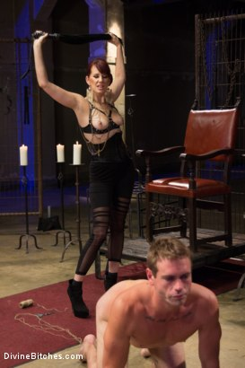 Photo number 10 from Click, Pay, Stroke! shot for Divine Bitches on Kink.com. Featuring Maitresse Madeline Marlowe  and John Jammen in hardcore BDSM & Fetish porn.