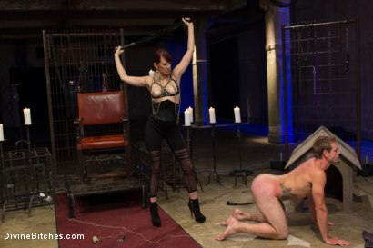 Photo number 12 from Click, Pay, Stroke! shot for Divine Bitches on Kink.com. Featuring Maitresse Madeline Marlowe  and John Jammen in hardcore BDSM & Fetish porn.