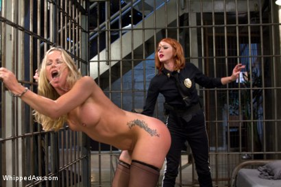 Photo number 15 from MILF prostitute punished & Dp'd by smoking hot redhead rookie cop! shot for Whipped Ass on Kink.com. Featuring Elle Alexandra and Simone Sonay in hardcore BDSM & Fetish porn.