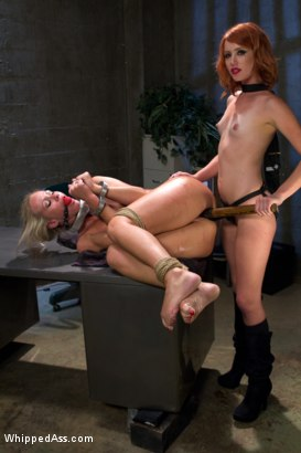 Photo number 7 from MILF prostitute punished & Dp'd by smoking hot redhead rookie cop! shot for Whipped Ass on Kink.com. Featuring Elle Alexandra and Simone Sonay in hardcore BDSM & Fetish porn.