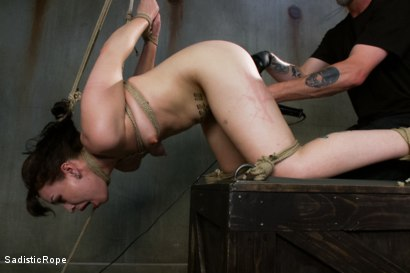 Photo number 14 from This is Suffering - Edited Live Show shot for Sadistic Rope on Kink.com. Featuring Elizabeth Thorn in hardcore BDSM & Fetish porn.