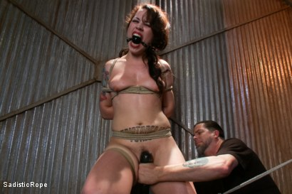 Photo number 4 from This is Suffering - Edited Live Show shot for Sadistic Rope on Kink.com. Featuring Elizabeth Thorn in hardcore BDSM & Fetish porn.