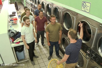 Photo number 2 from Rude punk gets gangbanged and shoved in the dryer at the laundromat  shot for Bound in Public on Kink.com. Featuring Adam Herst, Jayden Ellis and Hayden Richards in hardcore BDSM & Fetish porn.