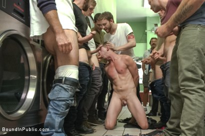 Photo number 9 from Rude punk gets gangbanged and shoved in the dryer at the laundromat  shot for Bound in Public on Kink.com. Featuring Adam Herst, Jayden Ellis and Hayden Richards in hardcore BDSM & Fetish porn.