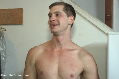 Photo number 15 from Punk Gets His Balls Stretched and His Hole Fucked by a Crowd of Men shot for Bound in Public on Kink.com. Featuring Jayden Ellis and Hayden Richards in hardcore BDSM & Fetish porn.