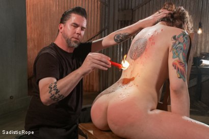 Photo number 1 from Cruel and Unusual Punishment shot for Sadistic Rope on Kink.com. Featuring Elizabeth Thorn in hardcore BDSM & Fetish porn.
