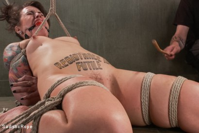 Photo number 16 from Cruel and Unusual Punishment shot for Sadistic Rope on Kink.com. Featuring Elizabeth Thorn in hardcore BDSM & Fetish porn.