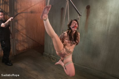 Photo number 6 from Cruel and Unusual Punishment shot for Sadistic Rope on Kink.com. Featuring Elizabeth Thorn in hardcore BDSM & Fetish porn.