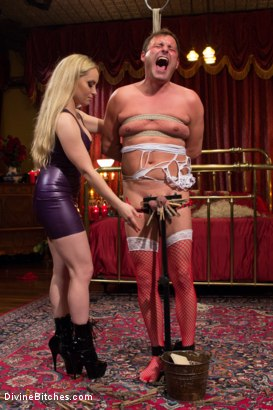 Photo number 4 from Feminized and Abandoned shot for Divine Bitches on Kink.com. Featuring Aiden Starr and Marcelo in hardcore BDSM & Fetish porn.