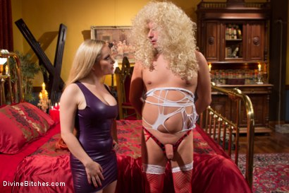 Photo number 1 from Feminized and Abandoned shot for Divine Bitches on Kink.com. Featuring Aiden Starr and Marcelo in hardcore BDSM & Fetish porn.