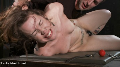 Photo number 5 from Resistance is Futile shot for  on Kink.com. Featuring Elizabeth Thorn and Maestro in hardcore BDSM & Fetish porn.