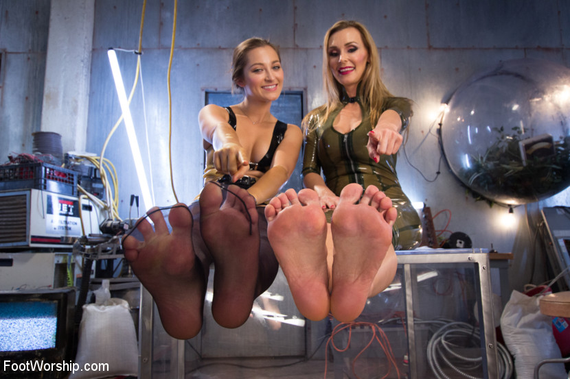 Lesbian Feet Worship Nylon