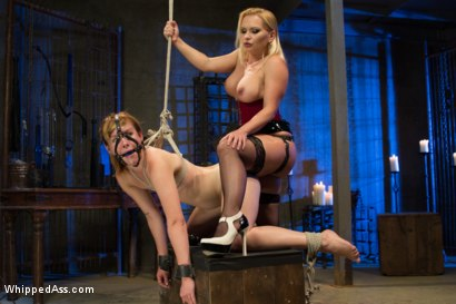 Photo number 11 from A Gift shot for Whipped Ass on Kink.com. Featuring Katja Kassin and Claire Robbins in hardcore BDSM & Fetish porn.