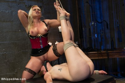 Photo number 7 from A Gift shot for Whipped Ass on Kink.com. Featuring Katja Kassin and Claire Robbins in hardcore BDSM & Fetish porn.