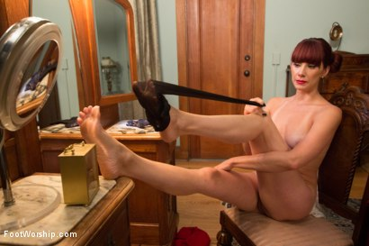 Photo number 10 from Cinderella  shot for Foot Worship on Kink.com. Featuring Maitresse Madeline Marlowe  and Casey More in hardcore BDSM & Fetish porn.