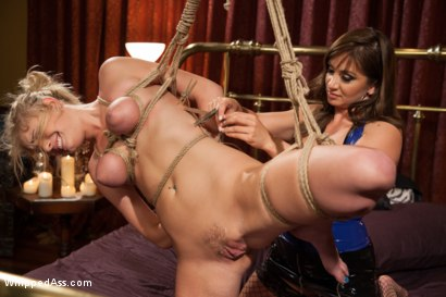 Photo number 5 from Horny lesbian sex slave spanked, fucked, and punished! shot for Whipped Ass on Kink.com. Featuring Allie James and Lea Lexis in hardcore BDSM & Fetish porn.