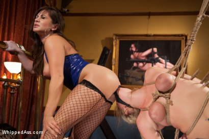 Photo number 6 from Horny lesbian sex slave spanked, fucked, and punished! shot for Whipped Ass on Kink.com. Featuring Allie James and Lea Lexis in hardcore BDSM & Fetish porn.