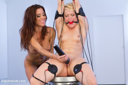 Photo number 9 from Ash Hollywood's Hot Body Shaken by EMS Pads shot for Electro Sluts on Kink.com. Featuring Gia DiMarco and Ash Hollywood in hardcore BDSM & Fetish porn.