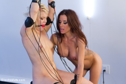 Photo number 6 from Ash Hollywood's Hot Body Shaken by EMS Pads shot for Electro Sluts on Kink.com. Featuring Gia DiMarco and Ash Hollywood in hardcore BDSM & Fetish porn.