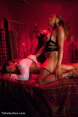 Photo number 5 from Happy New Year -You're Going to HELL with Yasmin Lee & her 8 inch COCK shot for TS Seduction on Kink.com. Featuring Yasmin Lee and Marcus Ruhl in hardcore BDSM & Fetish porn.