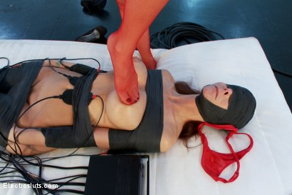 Photo number 13 from Sexy Big-Breasted MILF Worships Mistress Lea Lexis in SHOCKING Mummification shot for Electro Sluts on Kink.com. Featuring Lea Lexis and Syren de Mer in hardcore BDSM & Fetish porn.