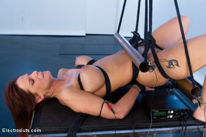 Photo number 7 from D-Cup MILF Squirts While Electrofucked in Copper Pipe Bondage! shot for Electro Sluts on Kink.com. Featuring Lea Lexis and Syren de Mer in hardcore BDSM & Fetish porn.