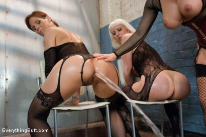 Photo number 13 from Anal Frenzy: Butt Fisting Cherry Torn and Syren de Mer shot for Everything Butt on Kink.com. Featuring Syren de Mer, Krissy Lynn and Cherry Torn in hardcore BDSM & Fetish porn.