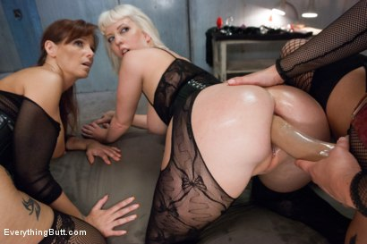 Photo number 9 from Anal Frenzy: Butt Fisting Cherry Torn and Syren de Mer shot for Everything Butt on Kink.com. Featuring Syren de Mer, Krissy Lynn and Cherry Torn in hardcore BDSM & Fetish porn.
