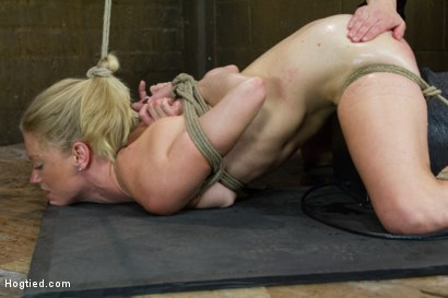 Photo number 3 from First Timer Bella Bends Lives Up To Her Name! shot for Hogtied on Kink.com. Featuring Serene Siren in hardcore BDSM & Fetish porn.