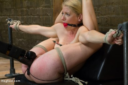 Photo number 8 from First Timer Bella Bends Lives Up To Her Name! shot for Hogtied on Kink.com. Featuring Bella Bends in hardcore BDSM & Fetish porn.